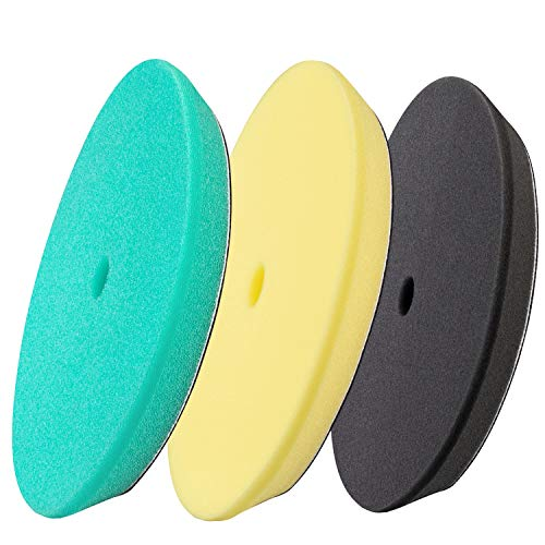 3pcs 5 inch Polishing Pads, 5'' Orbital Buffer Pads Hook and Loop Buffing Pads, Foam Polish Pad for Compounding, Polishing and Waxing, for 5'' Backing Plate