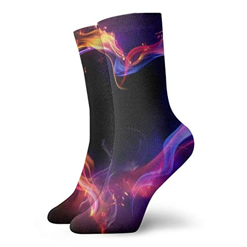 Coloridos calcetines para hombre y mujer, diseño de corazón, para yoga, senderismo, ciclismo, correr, fútbol, deportes (11,8 pulgadas/30 cm)