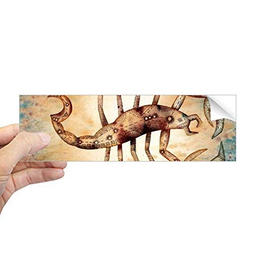 DIYthinker November Oktober Schorpioen sterrenbeeld Zodiac Rechthoek Bumper Sticker Notebook Window Decal