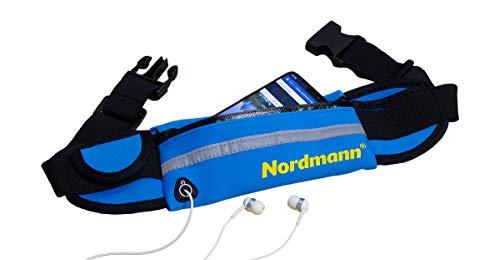 Nordmann® Marsupio in neoprene, colore Blu, protezione dagli spruzzi di acqua, acqua escursionismo, Custodia per cellulare, remi, andare in kayak, Canoa, pancia cintura, cintura da corsa
