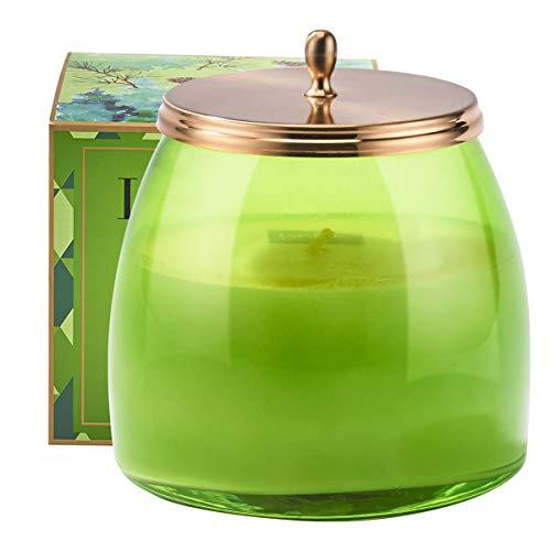 La Jolíe Muse VelaperfumadaGrandede 420 g,CeradeSoja, Aroma deCedrobalsámico, TarroenVidrioparaInvierno,90Horas