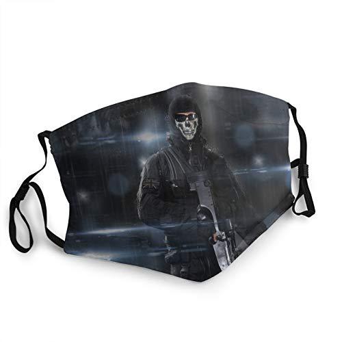 Call of Duty Ghosts Gesichtsbedeckung Maske Waschbar Mundschutz Weich Atmungsaktiv Outdoor/Sport/Motor/Radfahren Erwachsene