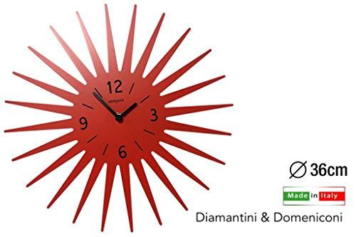 Diamantini und Domeniconi Wanduhr Art.369 orange Maison