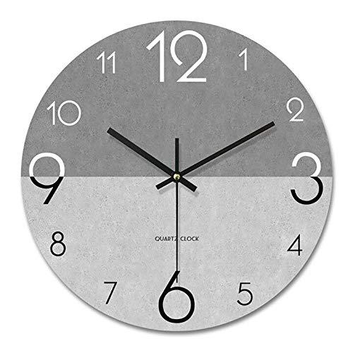 PFLife Wandnuhr mit Geräuscharmes,12 Zoll 30cm 14 Zoll 35cm modern,lautlos, großes Ziffernblatt, schleichendem Sekundenzeiger, hübsches Wohnaccessoire (14 Zoll 35cm, Grau)
