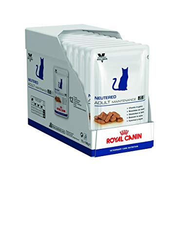 Royal Canin Neutered Adult Maintenance, Comida de gato, 100 g, pack de 12
