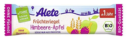 Alete Früchteriegel Himbeere-Apfel, Perfekt als Snack für Zwischendurch, ohne Palmöl & Aromastoffe, ab 1. Jahr, 1er Pack (1 x 25g)