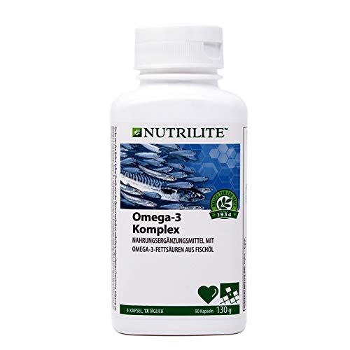 Omega-3 Komplex NUTRILITE™ - Nahrungsergänzungsmittel aus Fischöl mit mehrfach ungesättigten Omega-3- Fettsäuren - 90 Kapseln / 130 g - Amway - (Art.-Nr.: 4298)