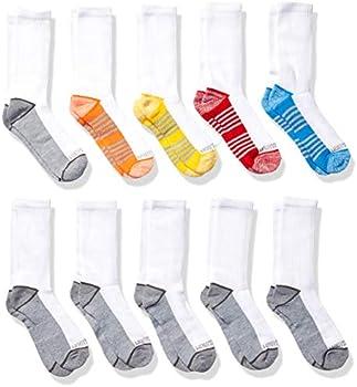 10-Pack Fruit of the Loom Boys Crew Socks