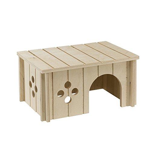 Ferplast 84645099 Kaninchenhaus SIN 4645, aus Holz, Maße: 26 x 17,3 x 13 cm