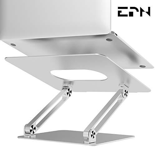 Soporte para ordenador portátil, EPN elevador de portátil con ventilación de calor para elevar el portátil, soporte de escritorio ajustable compatible con MacBook Pro/Air, Surface Laptop, Dell XPS, HP, Samsung, Lenovo y otros portátiles de 11 a 17 pulgadas
