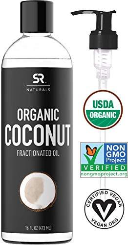 Organic Liquid Coconut Oil for Skin, Massage...