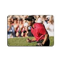 2個 ゴルフスターアスリートエルドリックタイガーウッズスポーツアイドルポスター28ティンサインヴィンテージメタルパブクラブカフェバーホームウォールアートデコレーションポスターレトロ8×12インチ(20×30cm) メタルプレート レトロ アメリカン ブリキ 看板