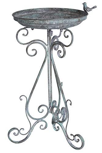 Vogeltranke Vintage Schale Metallschale Vogelbad Landhausstil Garten aja086 Palazzo Exklusiv