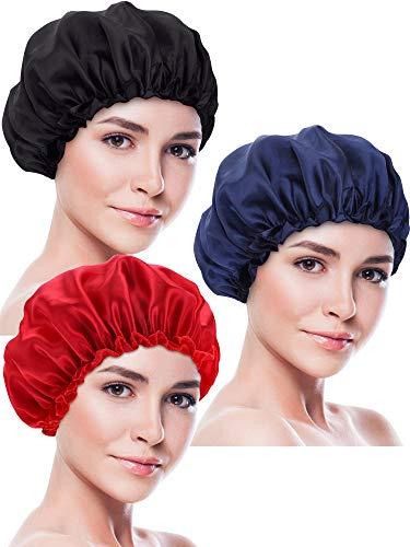 3 Pièces Bonnet de Sommeil Bonnet en Satin Couvre-Chef de Nuit Turbans de Cheveux de Sommeil Doux pour Femmes et Filles (Jeu de Style 4),Taille unique,Multicolore