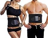 Sportneer Bauchweggürtel Fitnessgürtel, Schwitzgürtel, Verstellbarer Neopren-Fitness-Gürtel für Rückenstütze, Gewichtsverlust-Wickel, Schweißverstärker, Körperschlanker (M)
