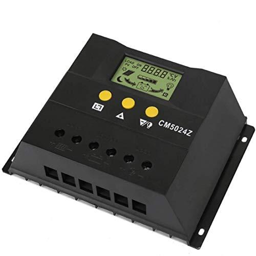 KAIBINY Controlador de cargador solar Regulador de panel solar LCD Visualización de cristal líquido PWM CARGA 12 V / 24 V Compartir 50 Un sensor de temperatura Protección de sobrecarga (Edición: CM502