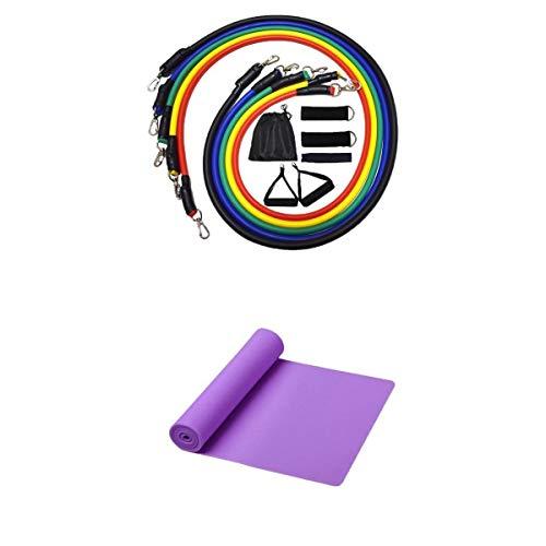 MagiDeal Juego de Bandas de Resistencia de 12 Piezas, Kit de Bandas de Entrenamiento, Suministros de Entrenamiento de Yoga, Fitness