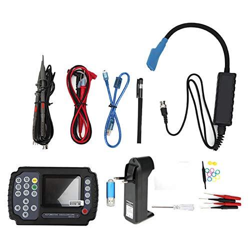 Kit de osciloscopio ADO102 2CH Osciloscopio USB digital automotriz de mano Multímetro digital AC100-240V(EU plug)