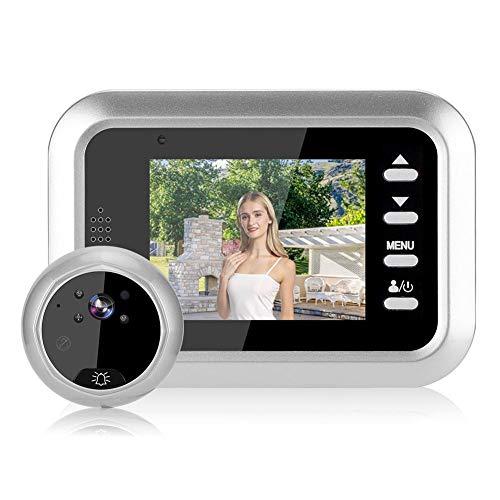 Digitale videodeurbel met 2,4 inch LCD-scherm, Intelligente deurviewer Schermdeurbel met 115 groothoeklens, nachtzichtbeveiligde videocamera voor thuiskantoor