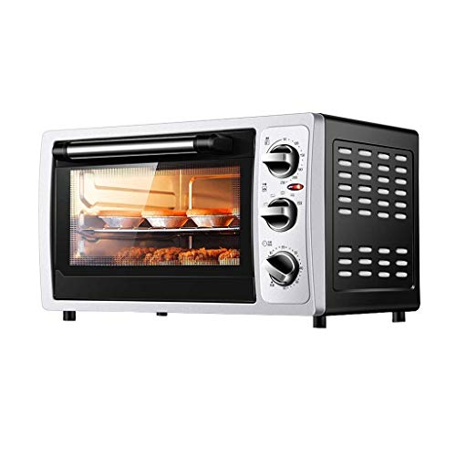Mini-bakoven, precisie-temperatuurregeling, 90 – 230 °C, timing 1300 W, drie lagen multifunctionele oven (30 l)