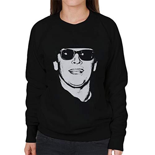 Jack Nicholson Retro Sunglasses Headshot Women's Sweatshirt