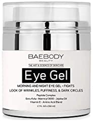 MORNING & NIGHT EYE GEL: This eye gel helps reduce the appearance of puffiness, dark circles, under eye bags & wrinkles! No more heavy creams, this lightweight gel is the perfect product to awaken your eyes! HYDRATE & FIRM: Features Peptide Complex t...