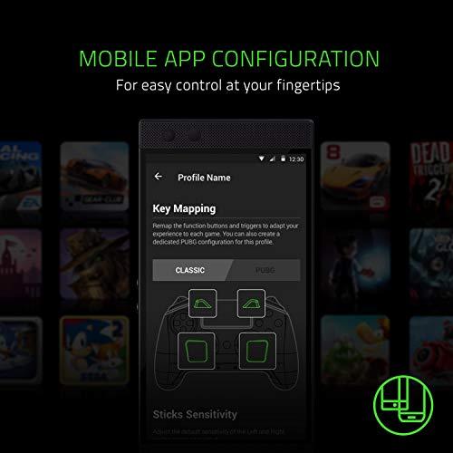 Razer Raiju Mobile: Mobiler Gaming-Controller für Android (Ergonomisches Layout mit Multifunktionstasten, Hair-Trigger-Modus, Verstellbare Smartphone-Halterung, Konfiguration über mobile App) - 5