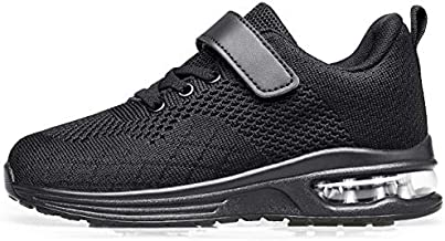 Anlarach Kids Toddler Shoes Boys Girls Athletic Running Shoes Air Cushion Sneakers for Toddler 9 allblack