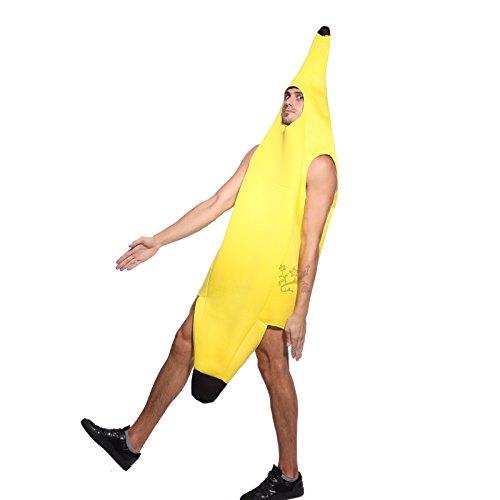 Anladia Bananenkostüm Bananenanzug Karnevalskostüm Halloween