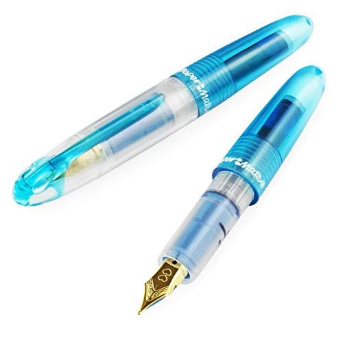 Paper Mate Mini Compact - Pluma estilográfica (2 unidades, punta fina), color azul