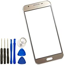 Screen Glass Panel Lens for Samsung Galaxy j327, Front Glass Touch Screen LCD Outer Panel Lens Repair Part+Tools for Samsung Galaxy J3 2017 Prime J327 (Not LCD & Digitizer &Not Screen Protector)