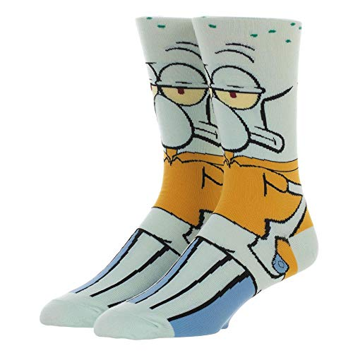 Squidward Socks Spongebob Squarepants Socks Squidward Clothing Spongebob Socks