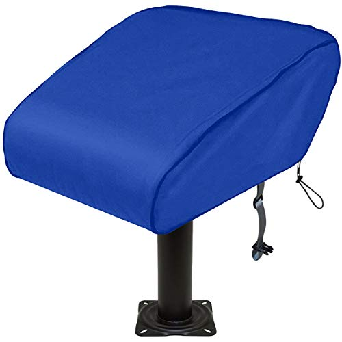 SoGuDio - Funda de asiento plegable para barco, 420D, impermeable, resistente a la intemperie, material para silla de pesca remolque, protección completa para su funda de asiento de barco (azul)