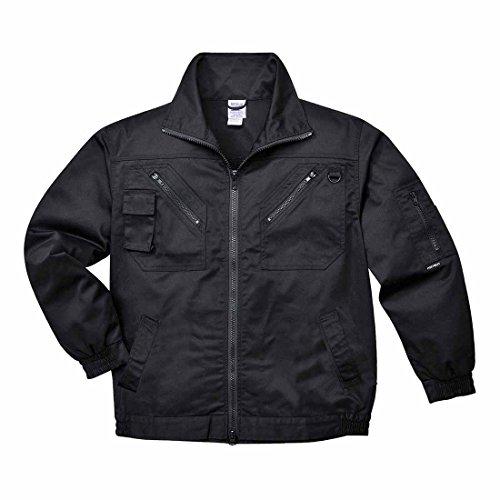 Action Work Jacket met elastische zijkanten voor mobiele telefoon, D-ring, werkkleding