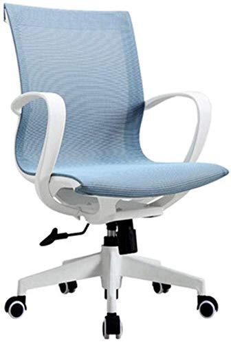 Silla con respaldo para el hogar, soporte para la cintura, cómodo para sentarse, dormitorio, oficina, silla para el personal, silla ergonómica para computadora, silla para arrodillarse (color: negro)