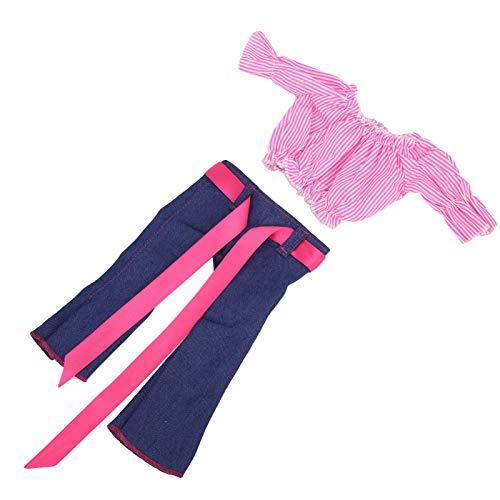 Natruss Puppen-Outfits, Puppenzubehör Hochwertige süße Puppenkleider, für 18 Zoll / 43 cm Puppenkinder(Q18-792)