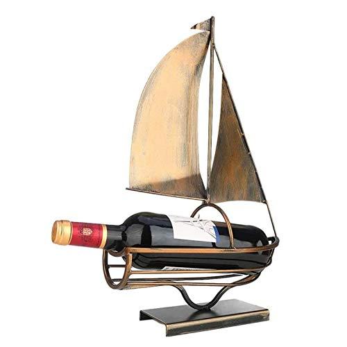 JMYSD Soporte para Botellas De Vino, Estante De Exhibición De Vino De Mesa Retro, Estante De Almacenamiento De Botellas De Vino, Adecuado para Bares, Restaurantes, Decoración del Hogar
