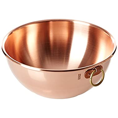 Mauviel Made In France M'Passion 2191.26 Copper 10-Inch/4.6L/4.9-Quart Egg White Bowl with Ring