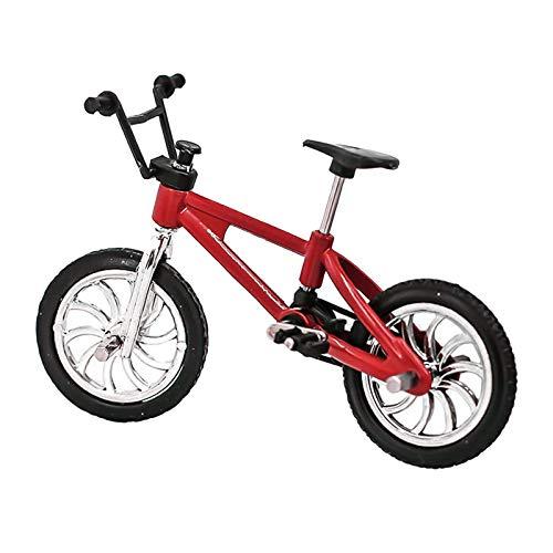 GRASARY Miniatura bicicleta de montaña, modelo exterior, casa de muñecas, accesorios para niños, juguete perfecto, casa de muñecas, set de regalo, rojo