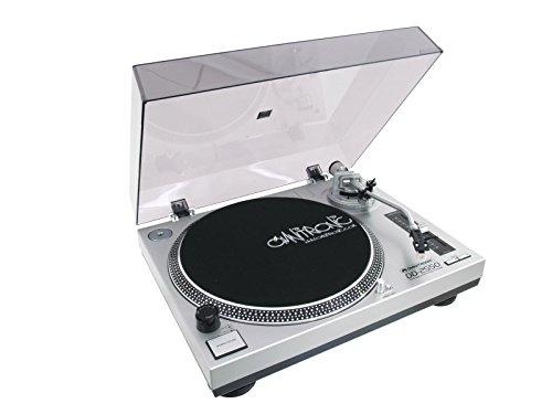 Omnitronic DD-2550 USB-platenspeler zilver, directe aandrijving DJ-platenspeler met phono-/line-omschakeling en USB-interface, digitaliseer in enkele stappen je oude vinylschatten.