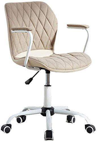 ANXWA Haupttaille Breathable Ineinander Greifen-ergonomischer Drehstuhl-Computer-Stuhl Eierschalen-Gegenständer-Höhe Justierbar Für Büro-Studien-Schreibtisch-Aufenthaltsraum-Stuhl-Bürostuhl,Beige
