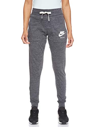 Nike Damen Trainingshose Gym, Grau (Anthracite/Sail) , M