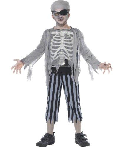 Generique - 353276 - Déguisement Pirate Squelette Enfant Halloween Garçon