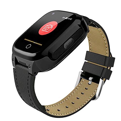 FVIWSJ Reloj Inteligente Anciano Impermeable-Smart Watch Anciano Localizador GPS Anciano,Pulsera Inteligente Reloj Inteligente Anciano Regalo,Llamada Telefónica SOS DespertadorTracker