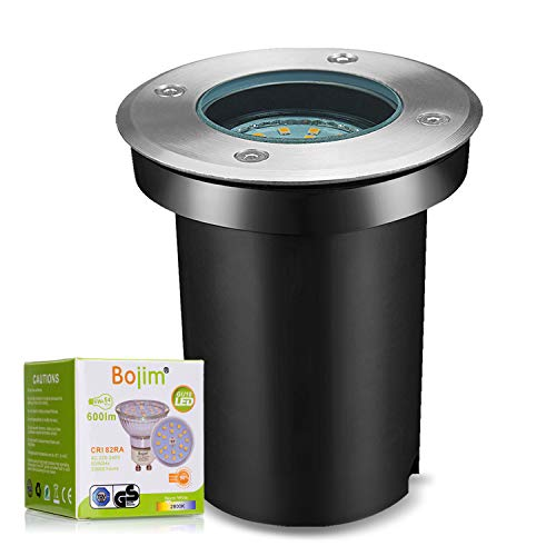 Bojim Foco Empotrable LED Redondo IP67, con 1x 6W GU10 Luz