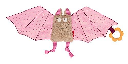 SIGIKID 42207 Schnuffeltuch Fledermaus Urban Mädchen Babyspielzeug empfohlen ab Geburt rosa