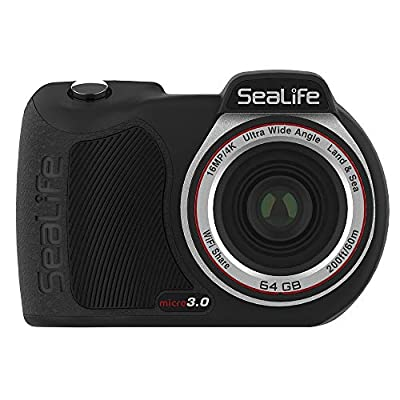 SeaLife Micro 3.0 64GB, 16mp, 4K Underwater Camera for Underwater Photography and Video, Easy Set-up, Wireless Transfer; Includes case, Wrist Strap by SeaLife