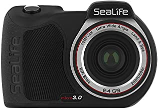 SeaLife Micro 3.0 64GB, 16mp, 4K Underwater Camera for Underwater Photography and Video, Easy Set-up, Wireless Transfer; Includes case, Wrist Strap