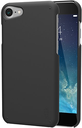 Smartish iPhone 7/8/SE (2020) Slim Case - Snap Shell for Apple iPhone SE 2020 & iPhone 7/8 [Ultra Slim Fit Soft-Touch Protective Cover] [Silk] - Black Tie Affair