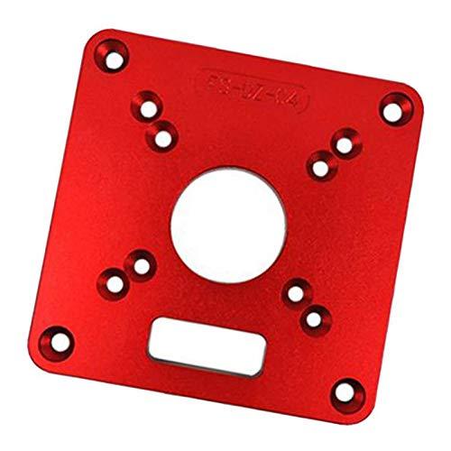 FLAMEER Aluminium Router Tabelle Insert Plate Router Tischeinsatzplatte für Holzbearbeitungstische